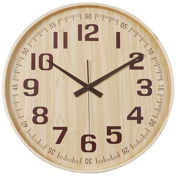 במבוק שעון קיר עץ טבעי
