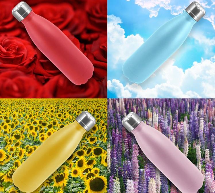 בקבוקים טרמיים צבעוניים שומרים קור וחום