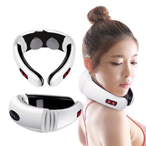 מכשיר עיסוי נטען ששולח פולסים של חשמל לצוואר וסביבתו.