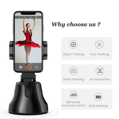 מעמד רובוטי מזהה פנים ועוקב ב 360 מעלות