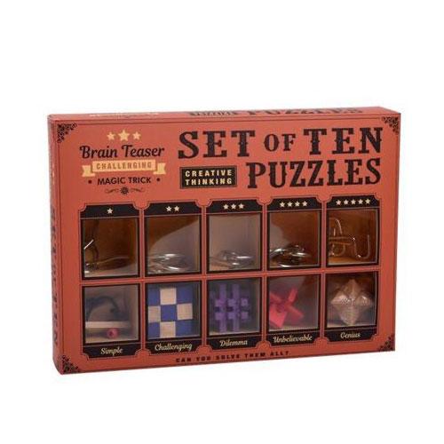 סט משולב חמש קוביות וחמישה משחקי מתכת לפירוק והרכבה