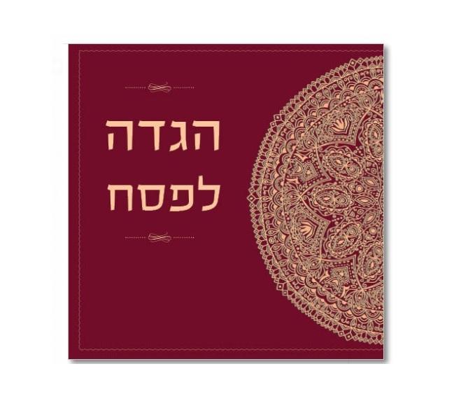 הגדה ספר כריכה קשה ממותגת לפסח