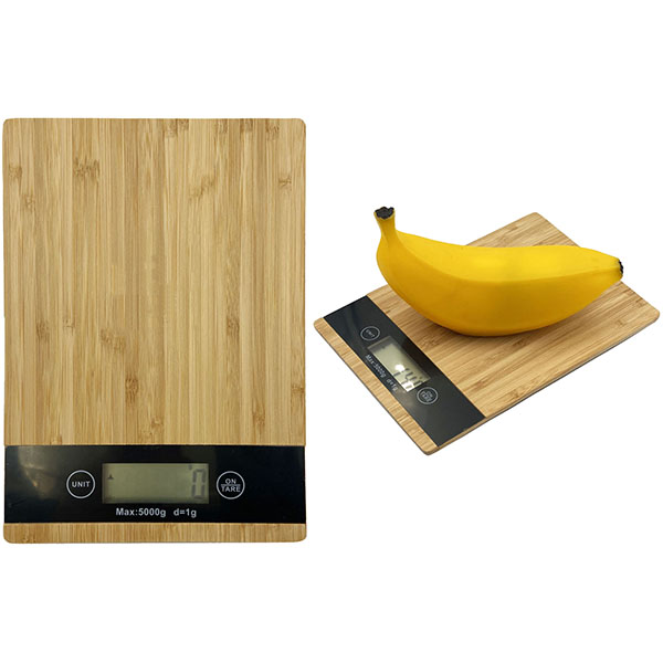 משקל מטבח עשוי ממבוק